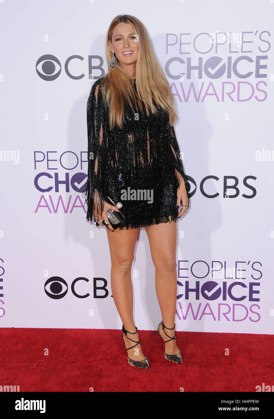 Los Angeles, CA, USA. 18 janvier, 2017. Blake Lively. 2017 People's Choice Awards 2017 qui a eu lieu au théâtre. Photo Stock
