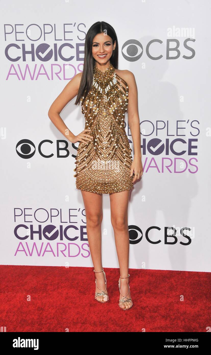 Los Angeles, CA, USA. 18 janvier, 2017. Arrivées à Victoria Justice for People's Choice Awards 2017 Photo Stock