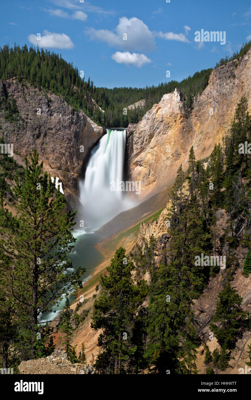 WY02098-00...WASHINGTON - Lower Falls dans le Grand Canyon de la Yellowstone River dans le Parc National de Yellowstone. Photo Stock