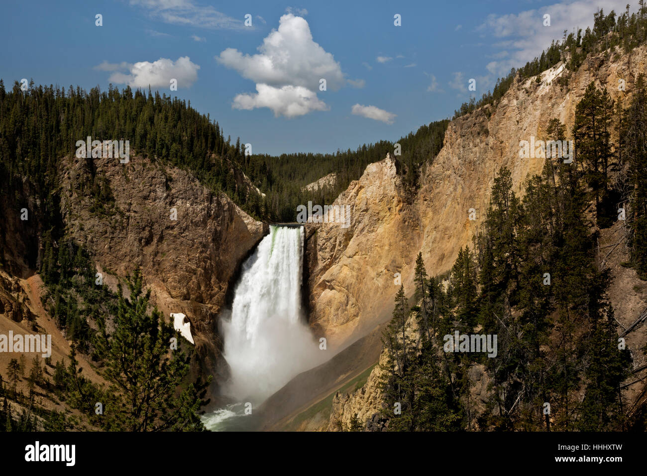 WY02099-00...WASHINGTON - Lower Falls dans le Grand Canyon de la Yellowstone River dans le Parc National de Yellowstone. Photo Stock