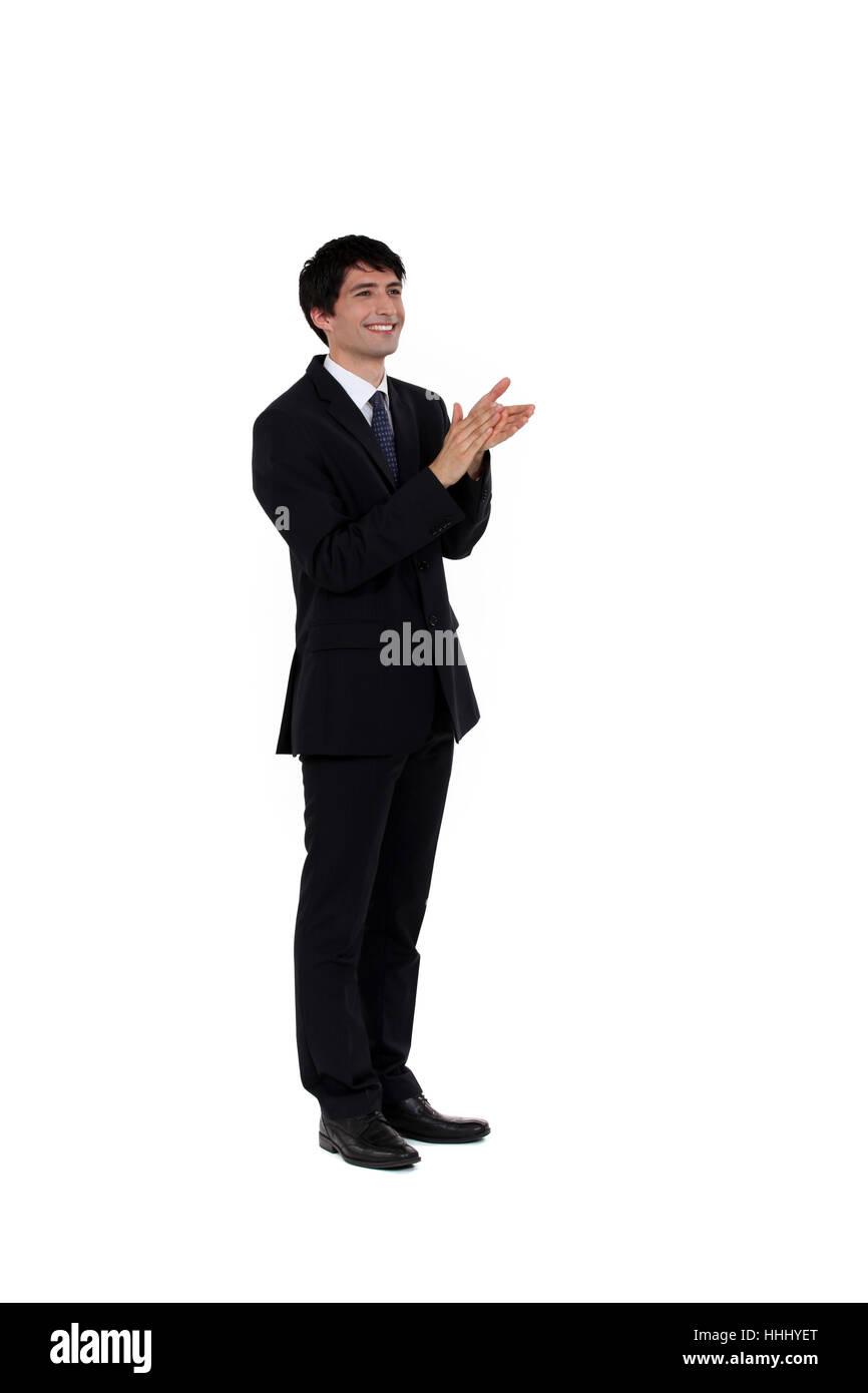 Accord, adultes, asiatique, adultes, applaudir, applaudissements, ambitieux, acclamation, Photo Stock