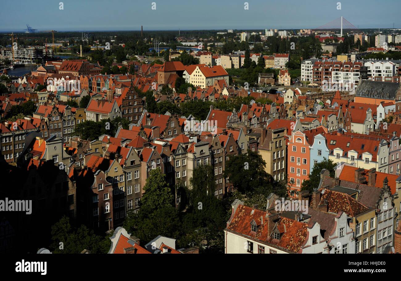 La Pologne. Gdansk. Centre historique. Photo Stock