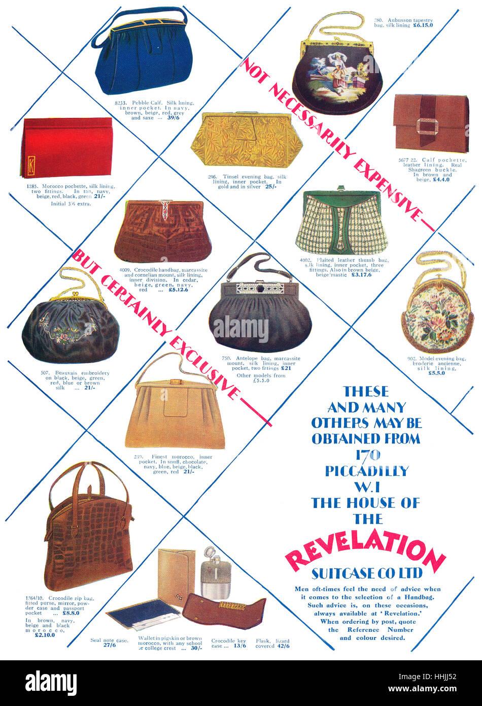 à La la main les de pour partir publicité sacs à sacs à et 1928 main XfwFdX