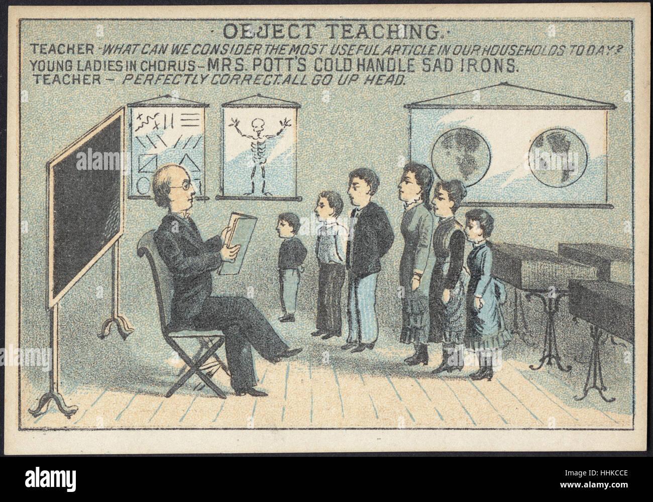 L'enseignement de l'objet. Enseignant - que pouvons-nous envisager l'article le plus utile dans nos Photo Stock