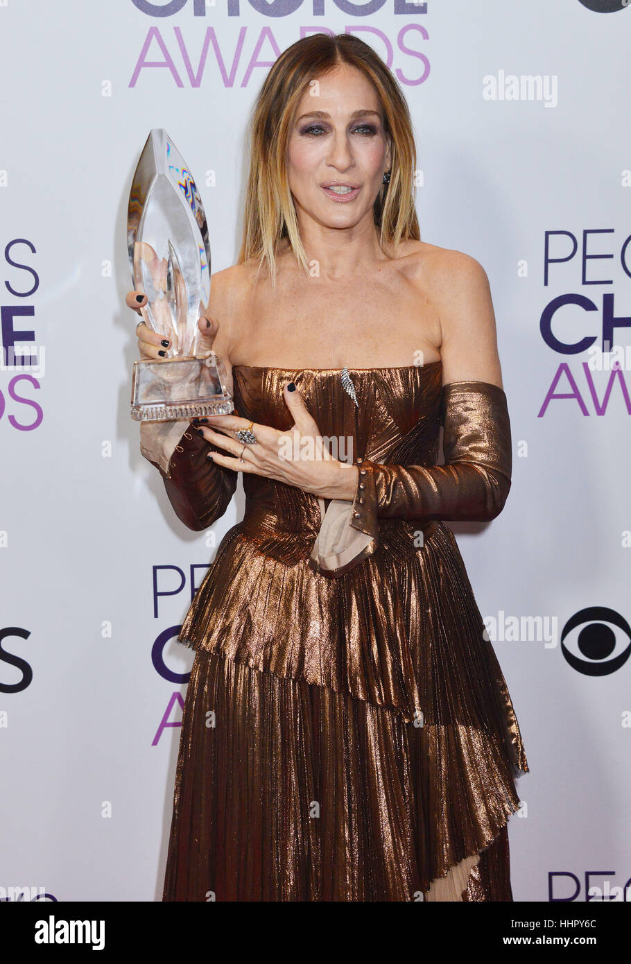 Sarah Jessica Parker 233 arrivant au People's Choice Awards 2017 au Theatre de Los Angeles. 18 janvier, 2017. Photo Stock