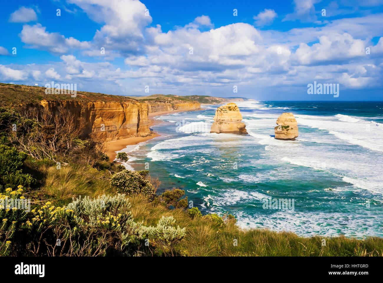 Douze Apôtres, Great Ocean Road, l'Australie Photo Stock