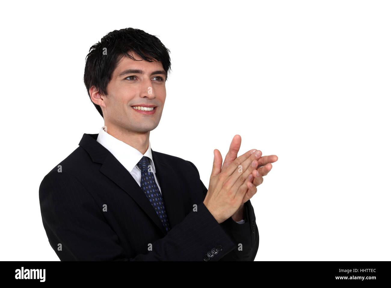 Accord, applaudir, applaudissements, acclamations, applaudissements, acclamations, de l'adulation, Guy, Photo Stock