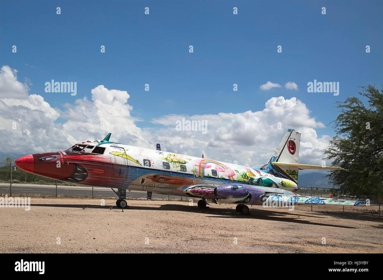 L'art de l'aviation sur l'affichage à Pima Air & Space Museum Photo Stock