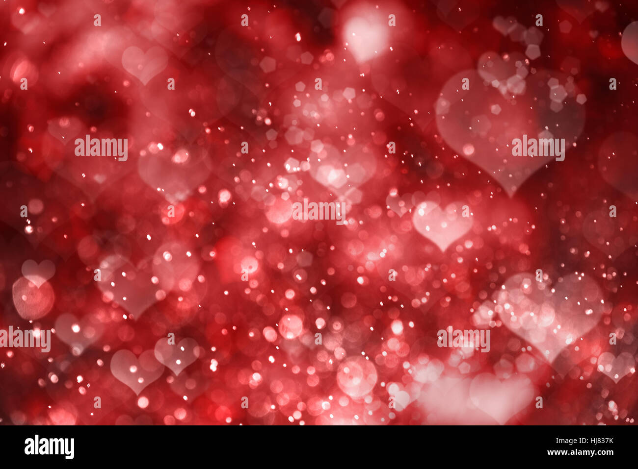 Red hearts. Valentine day Photo Stock