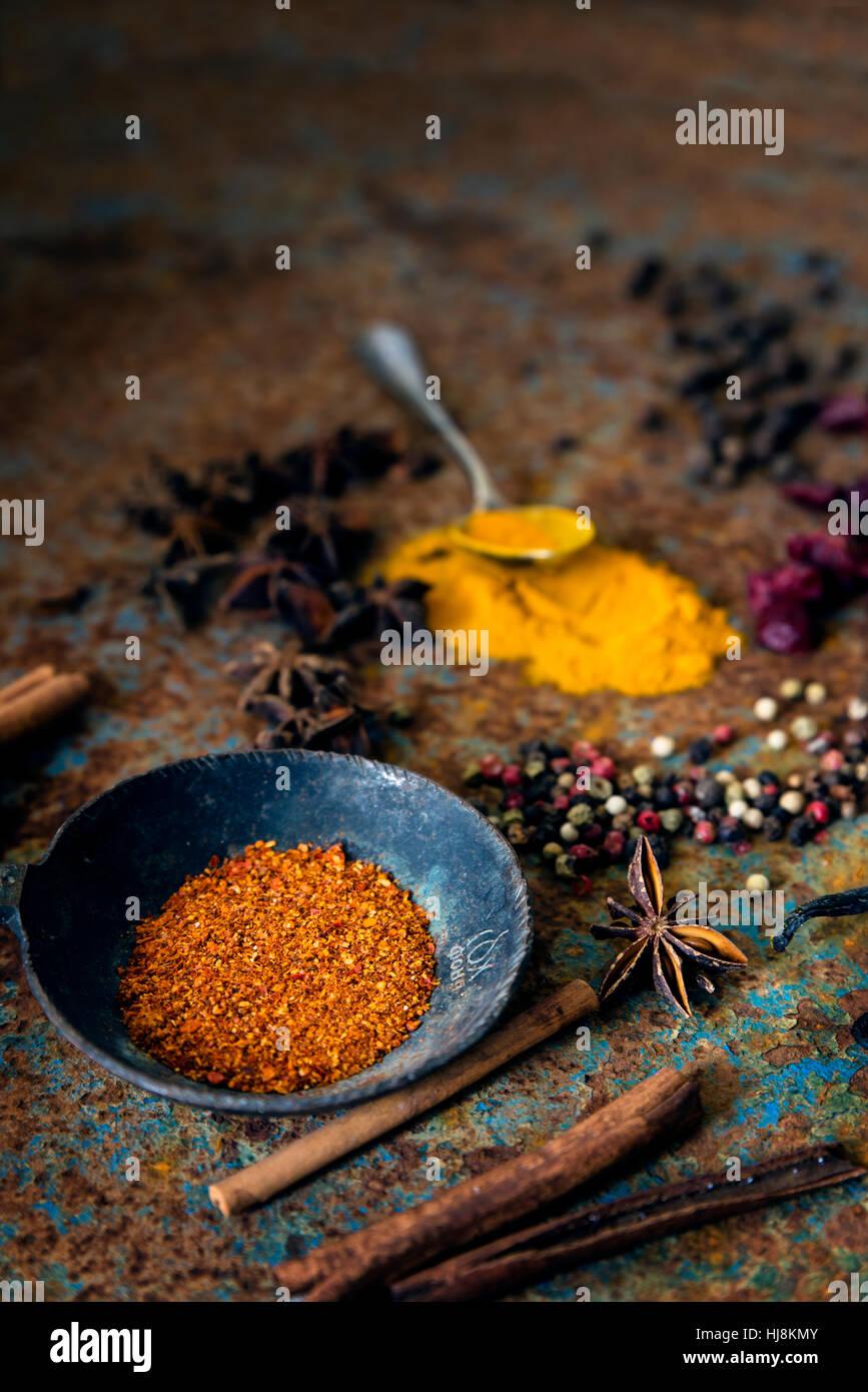 Arrangement d'épices Photo Stock