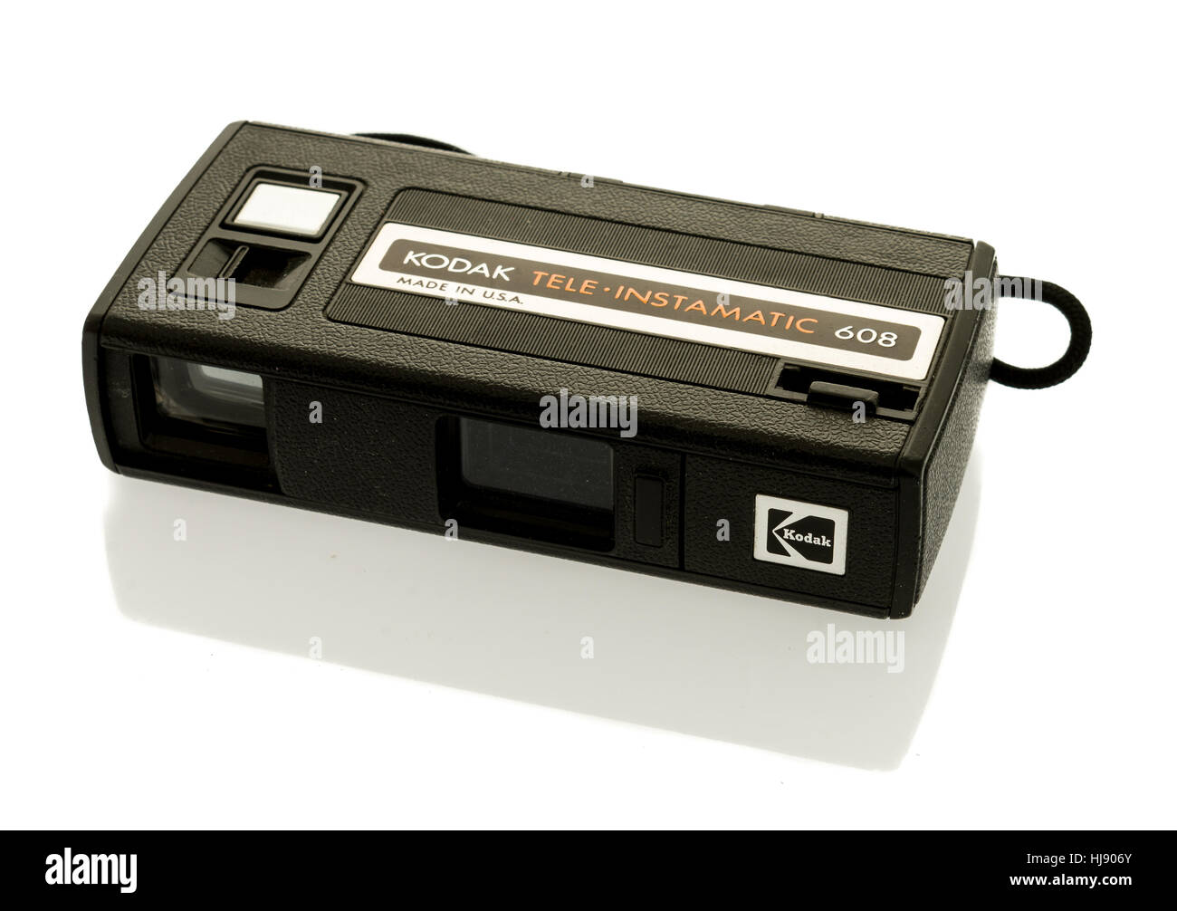 Winneconne, WI -22 Janvier 2017: une vieille télé caméra Kodak Instamatic 608 sur un fond isolé. Banque D'Images