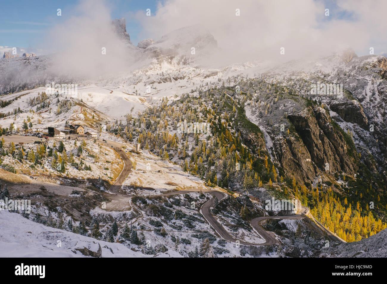Le Tyrol du Sud, cols alpins, Italie Banque D'Images