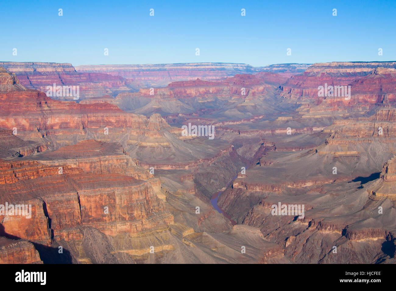 Rive Sud, le Parc National du Grand Canyon, UNESCO World Heritage Site, Arizona, USA Photo Stock