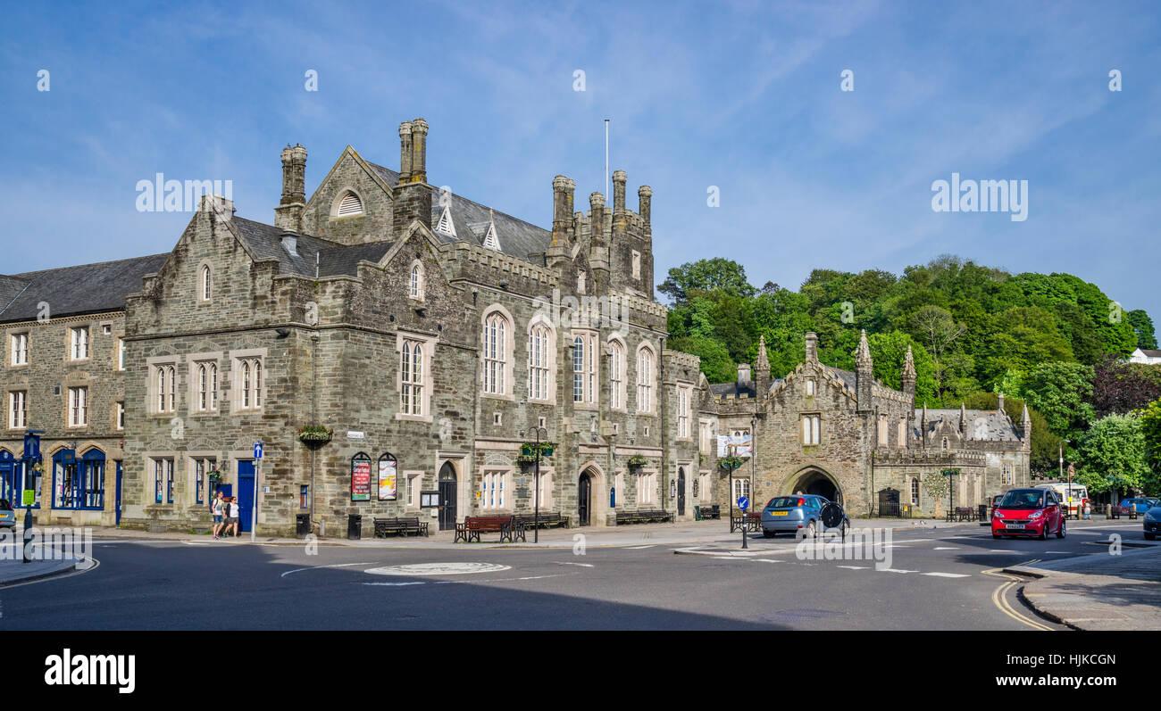 Grande Bretagne, sud-ouest de l'Angleterre, de l'ouest du Devon, Tavistock, Mairie à Bedford Square Photo Stock
