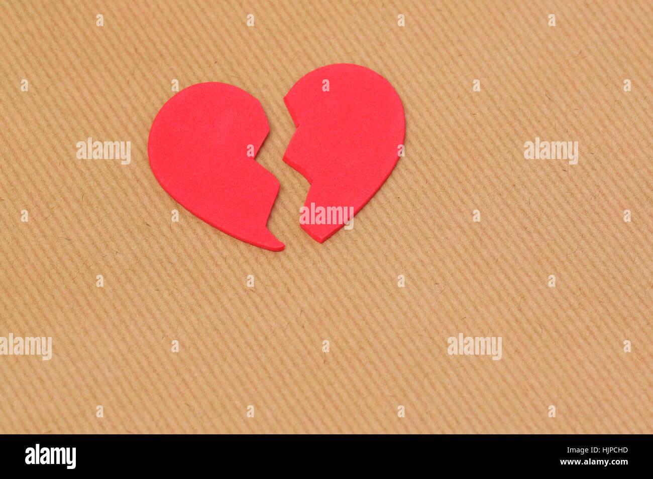 Un cœur brisé Photo Stock