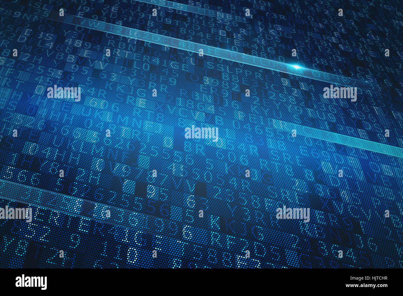 Système binaire numérique Photo Stock