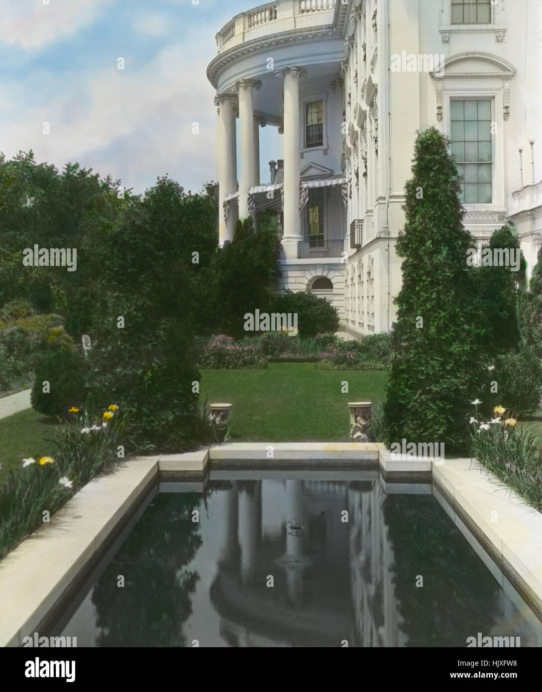 Le sud est de la piscine du jardin maison blanche washington dc usa par frances benjamin johnson mai 1921