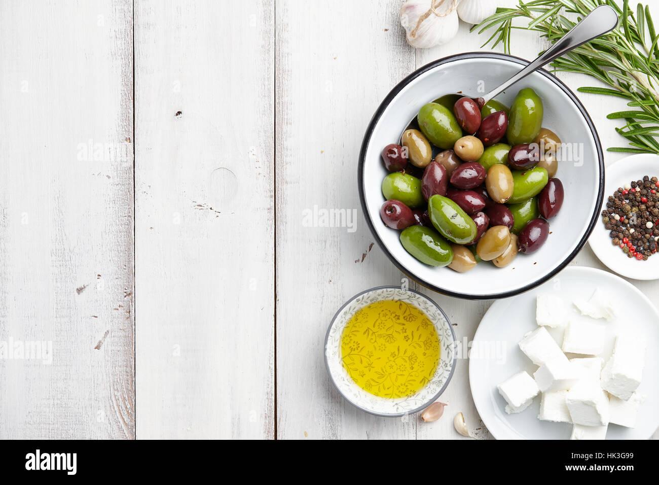 Ingrédients cuisine grecque Photo Stock