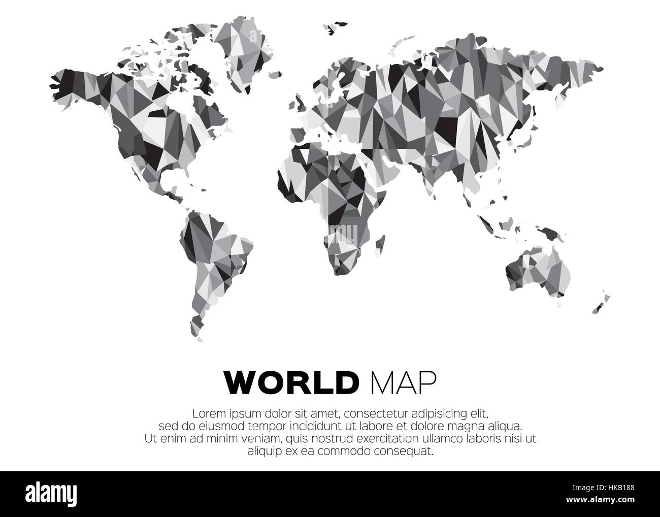 Carte Du Monde Origami.Carte Du Monde En Arriere Plan Style Polygonal Resume Carte Couleur