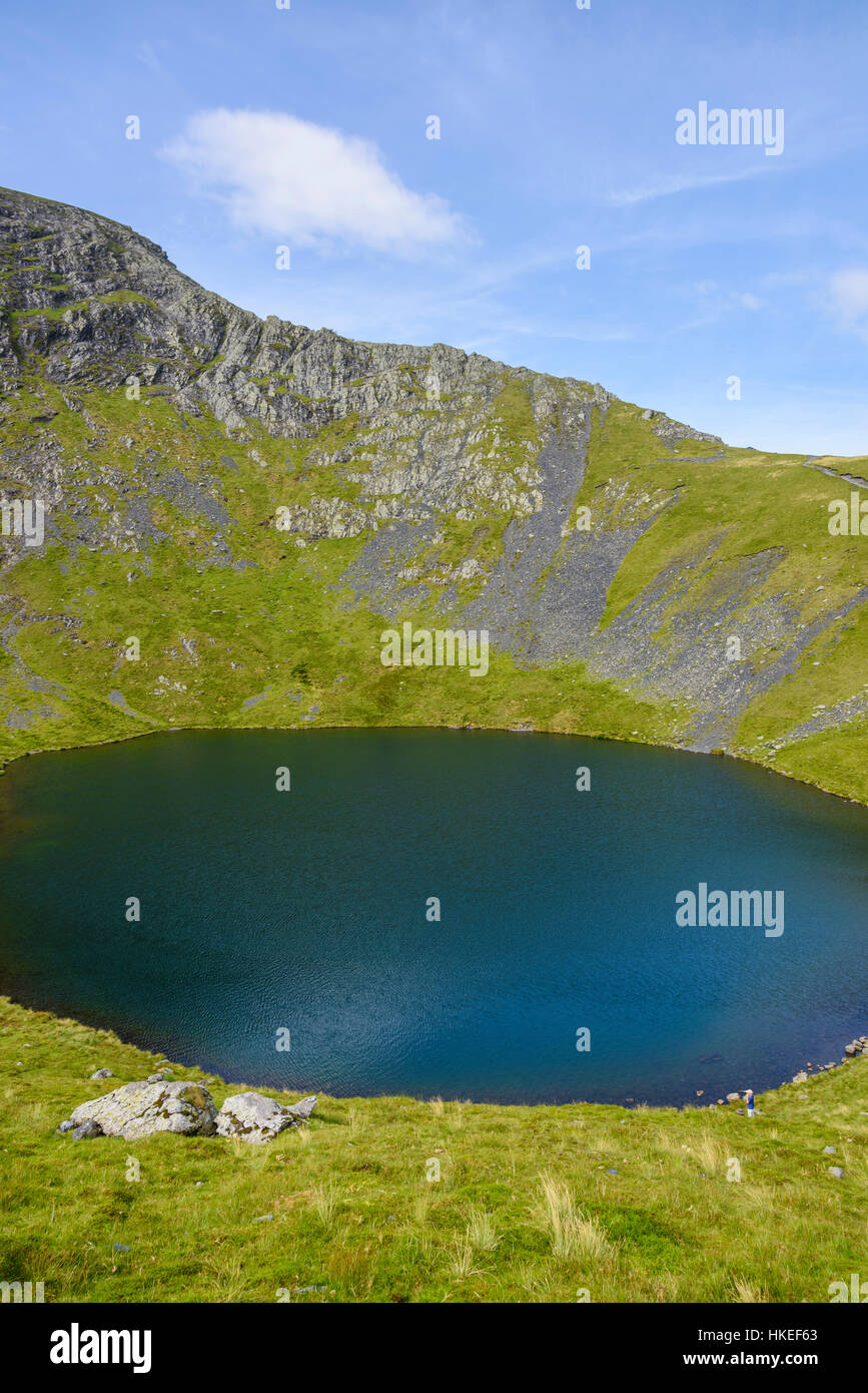 Pèse-personne Tarn, Blencathra (Saddleback), Cumbria, Angleterre Photo Stock