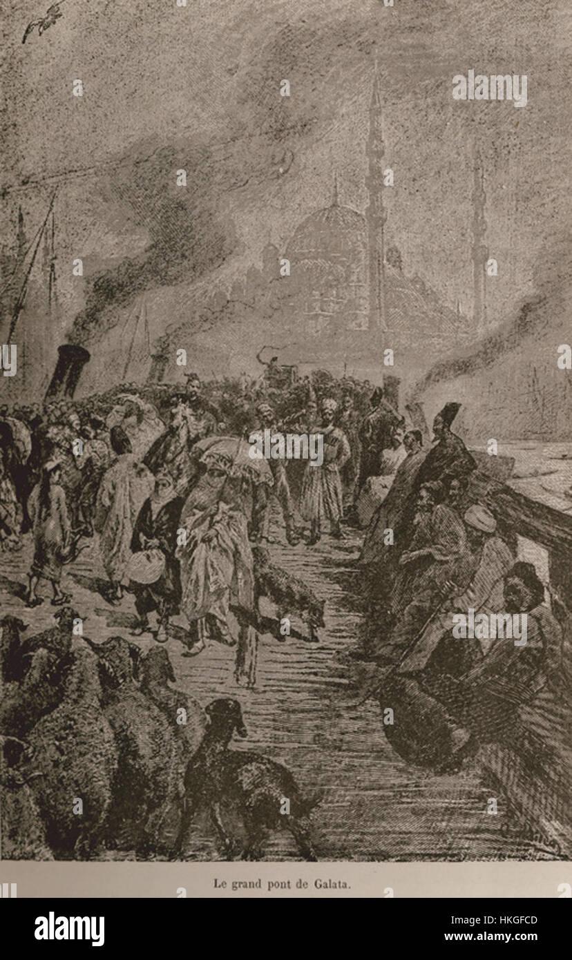 Le grand pont de Galata De Amicis Edmondo 1883 Banque D'Images