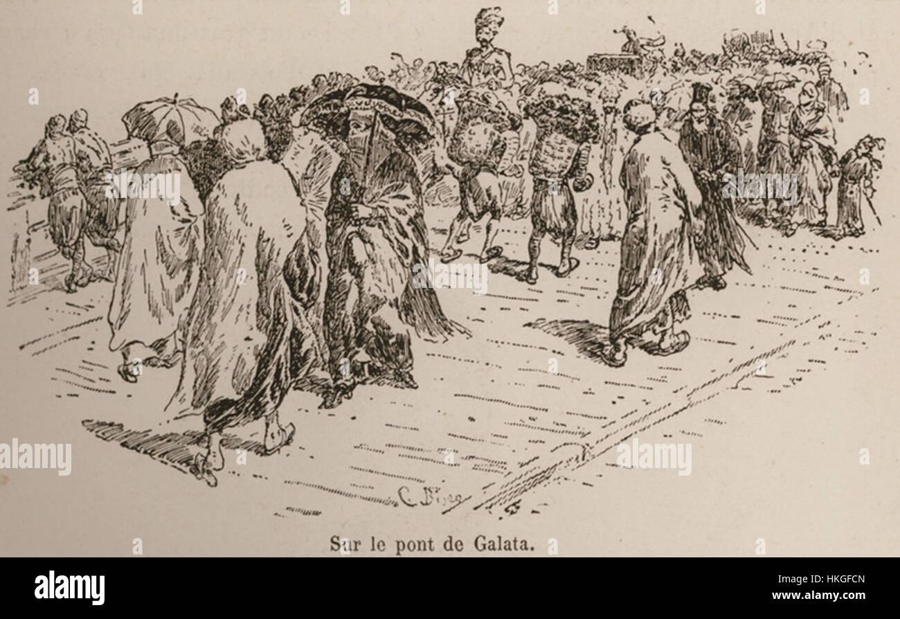 Sur le pont de Galata De Amicis Edmondo 1883 Banque D'Images