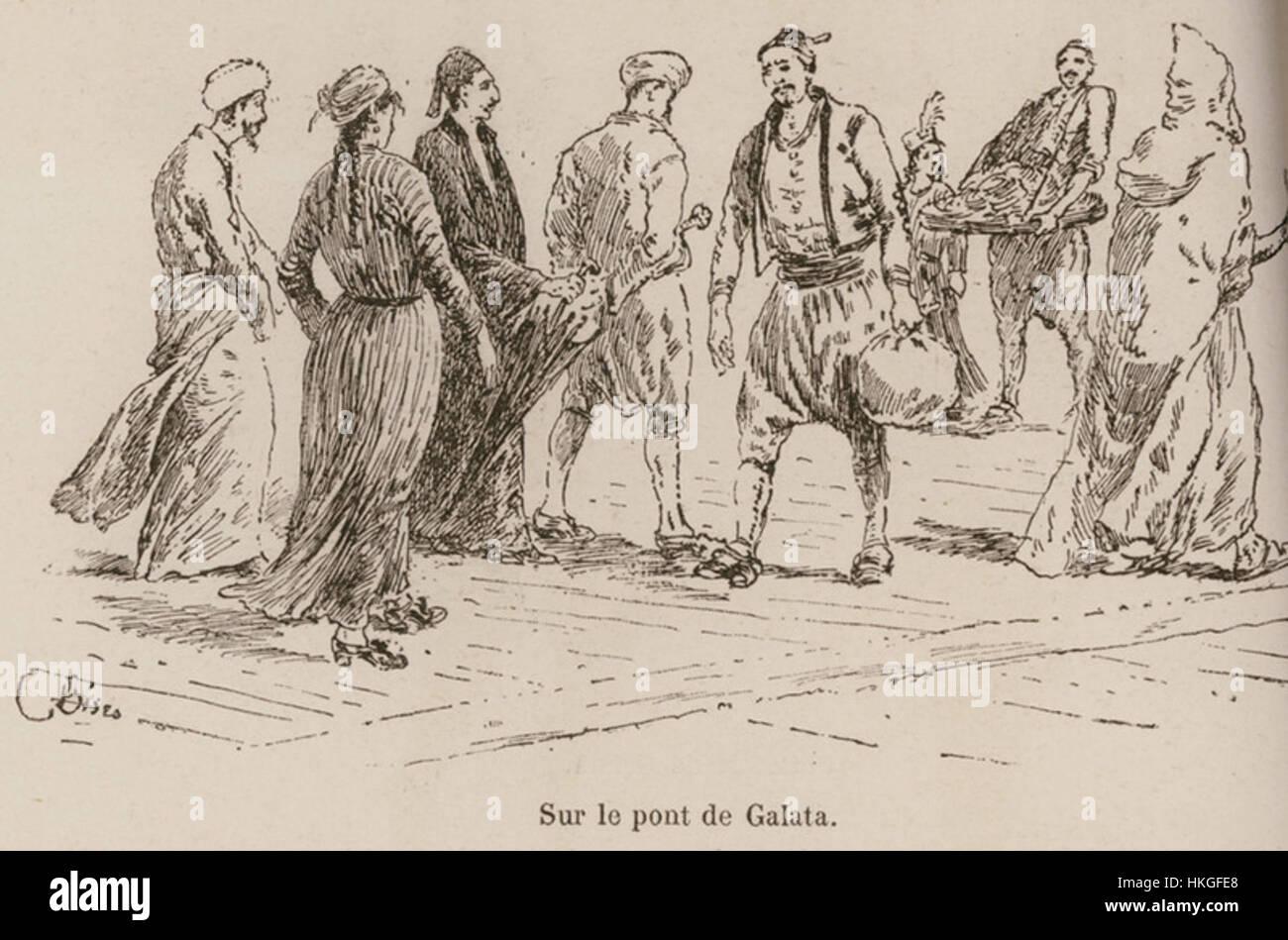 Sur le pont de Galata (2) De Amicis Edmondo 1883 Banque D'Images