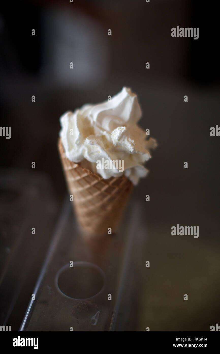 Softice ice cream cone. aliment sucré, sucre, dessert, de l'alimentation. Photo Stock