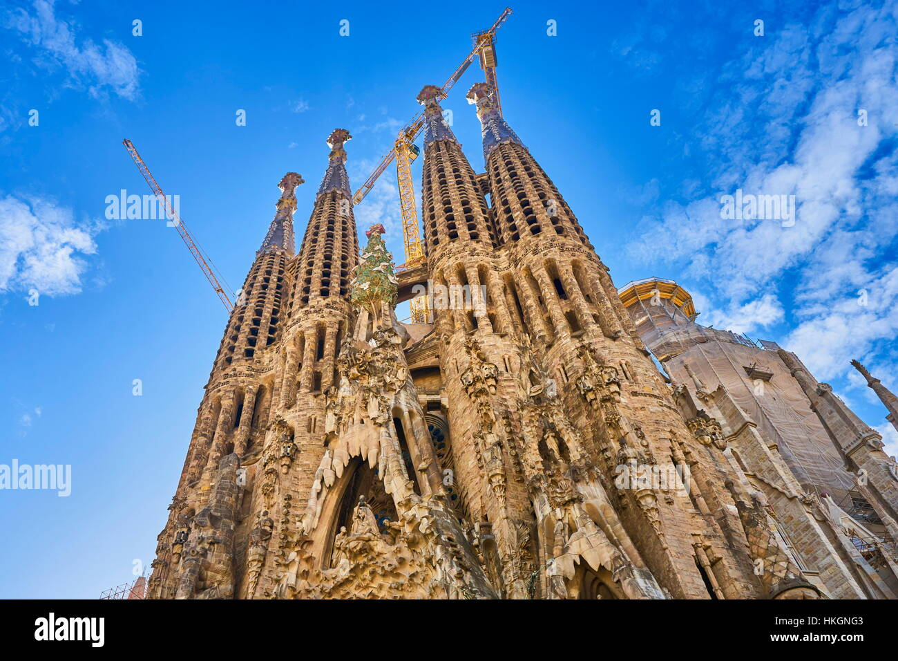 Sagrada Familia conçu par Antoni Gaudi, Barcelone, Catalogne, Espagne Photo Stock