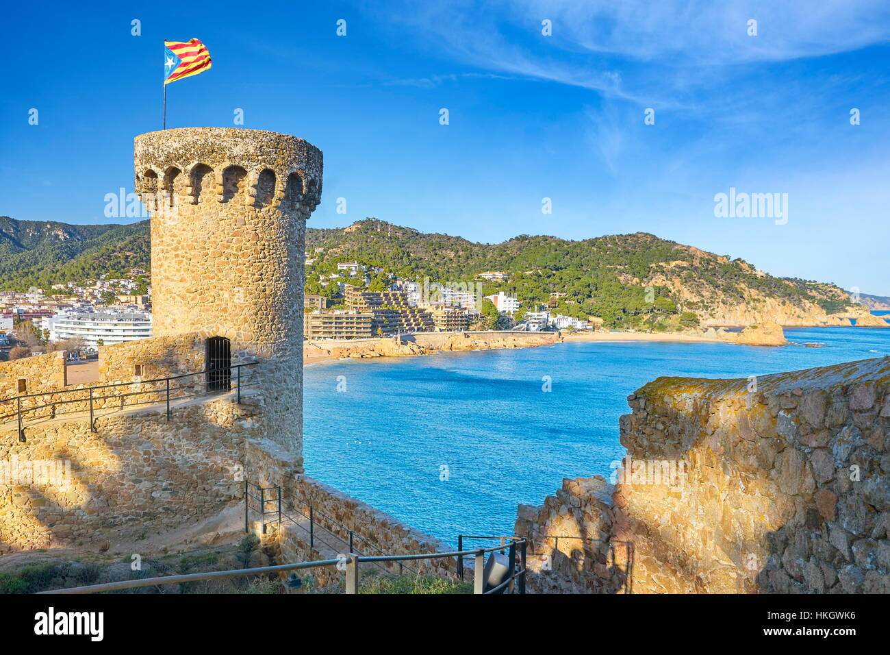 Tossa del Mar, Costa Brava, Catalogne, Espagne Photo Stock