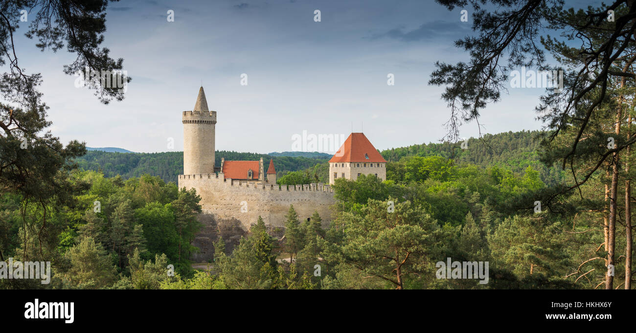 Château Kokorin en Bohême centrale, en République tchèque, en Europe Banque D'Images