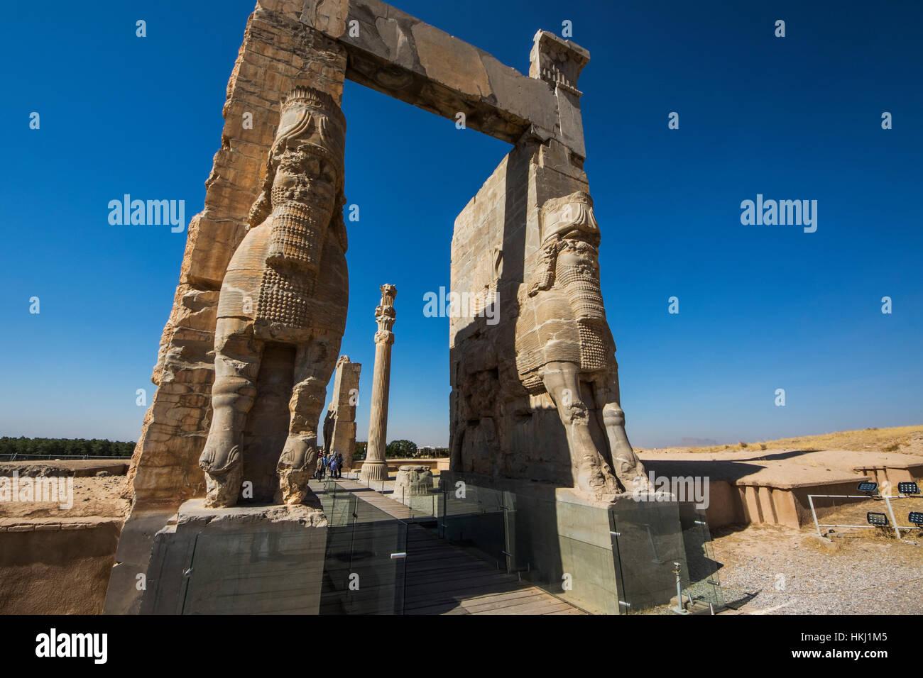 La porte de toutes les nations, Persépolis; la province du Fars, Iran Photo Stock