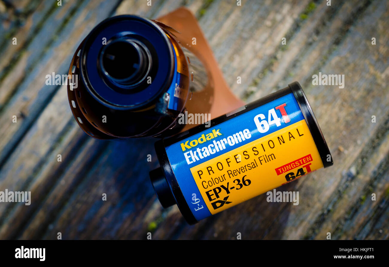 35mm Kodak Ektachrome de film transparent Photo Stock
