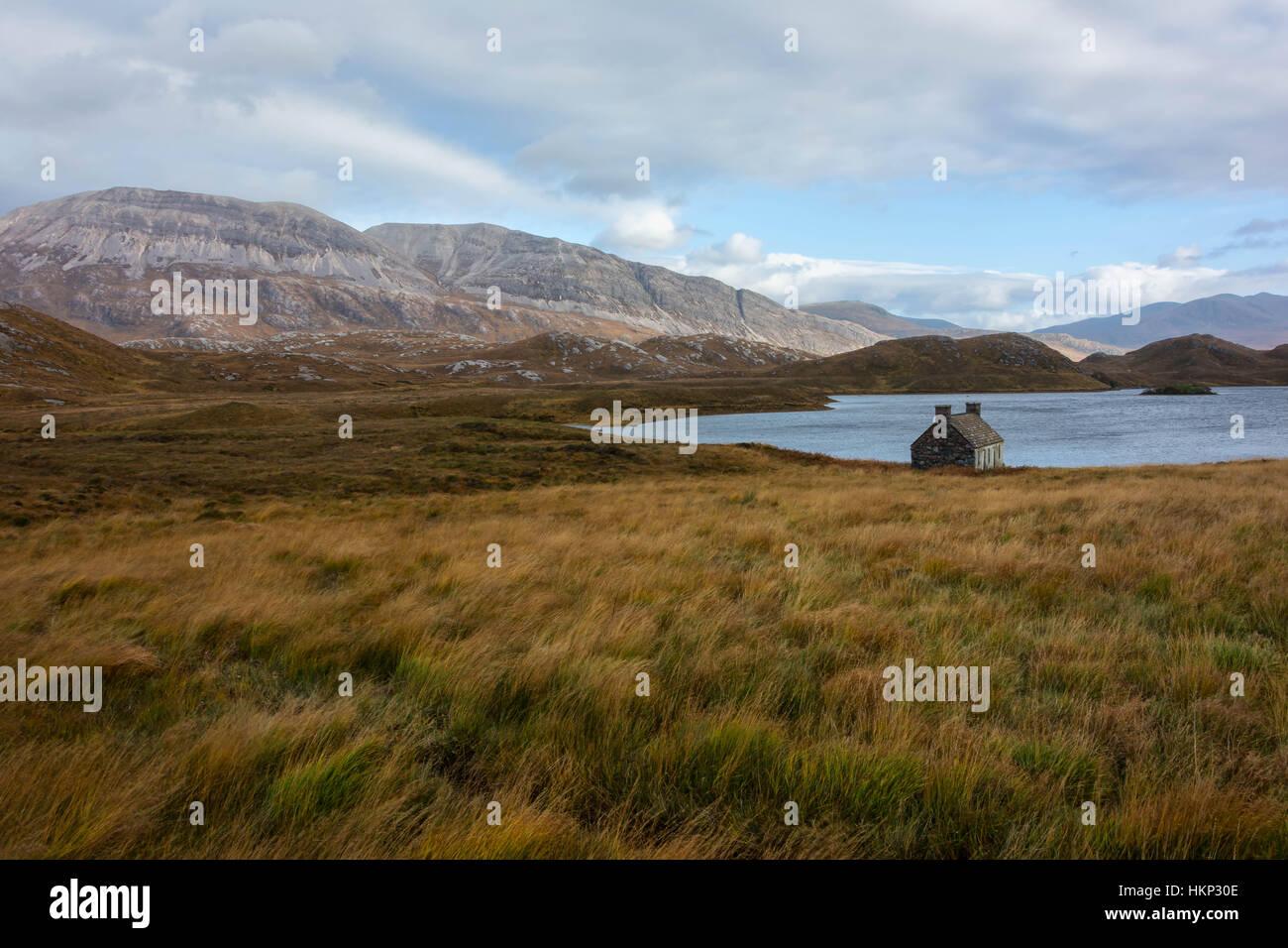 Loch stack, Sutherland, Scotland, united kingdom Photo Stock