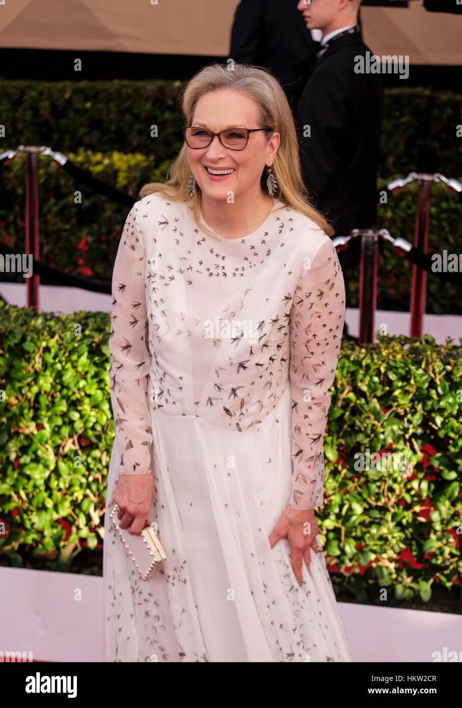 Super 23E Cérémonie Des Screen Actors Guild Awards los angeles, usa. 29 janvier, 2017. l'actrice meryl streep arrive à