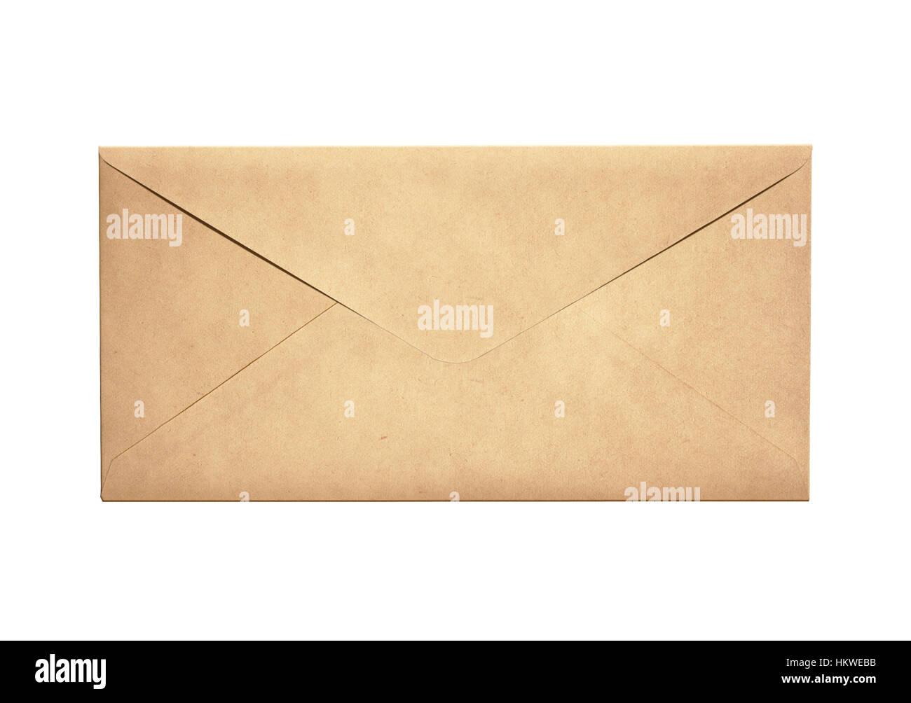 Ancienne lettre isolée enveloppe étroite Photo Stock