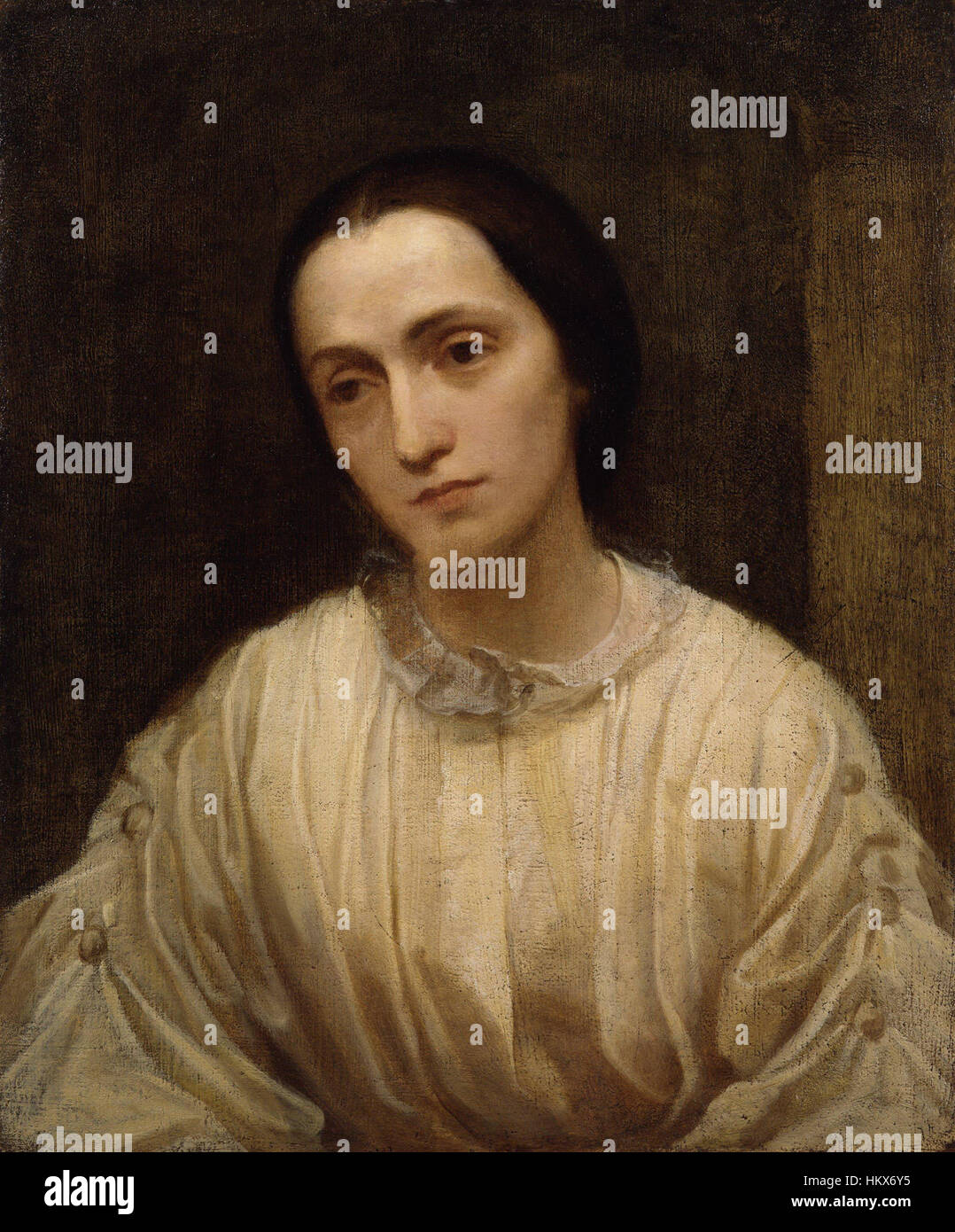 Julia Margaret Cameron par George Frederic Watts Banque D'Images