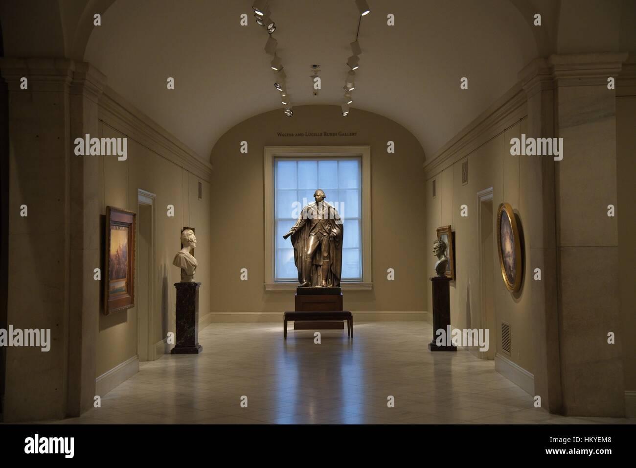 Statue de george washington sur l affichage à la national portrait