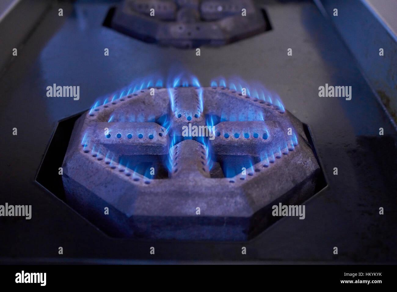 Brûleur cuisinière au gaz naturel Banque D'Images