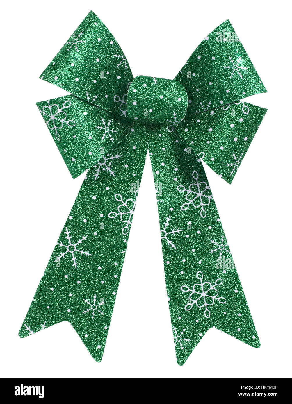 Green Christmas bow Banque D'Images