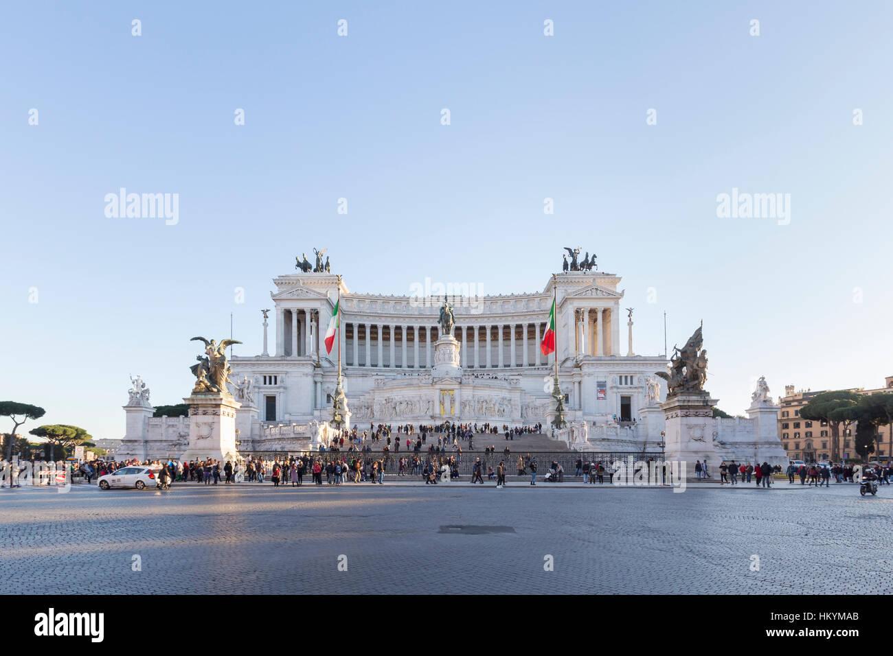 Monument Vittoriano, Altare della Patria, de Vittorio Emanuele II, Piazza Venezia, Rome, Italie Photo Stock
