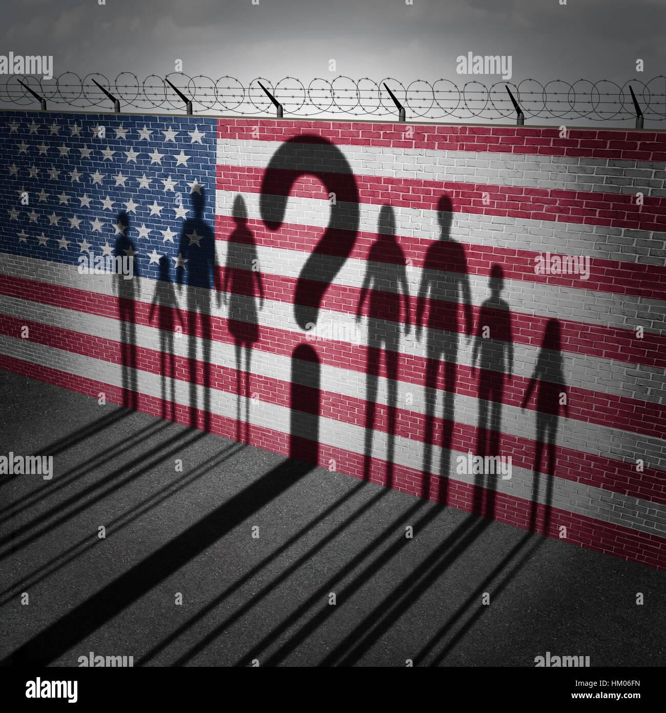 United States question des réfugiés et de l'immigration la politique gouvernementale de contrôle Photo Stock
