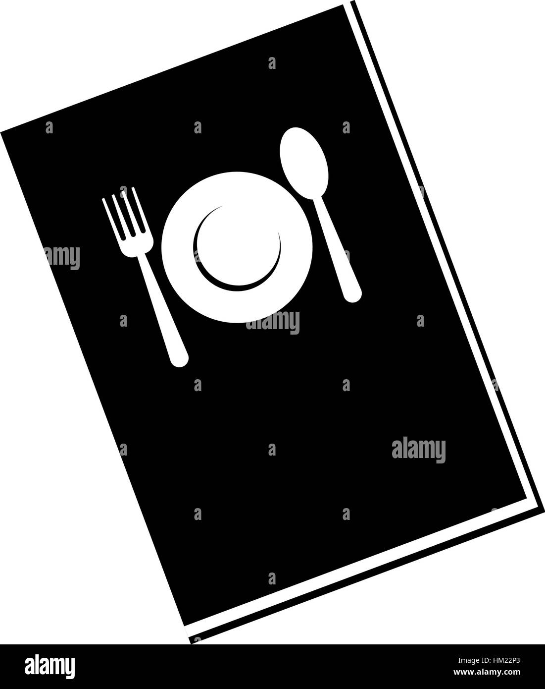 Restaurant Menu Icone Livre Vector Illustration Graphic