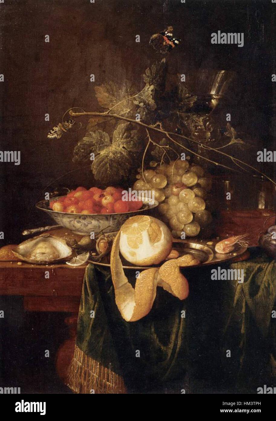 Jan Davidsz. De Heem - Still-Life avec un citron Pelé - WGA11270 Banque D'Images