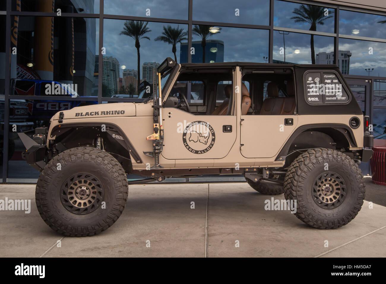 Jeep sur mesure au SEMA. Banque D'Images