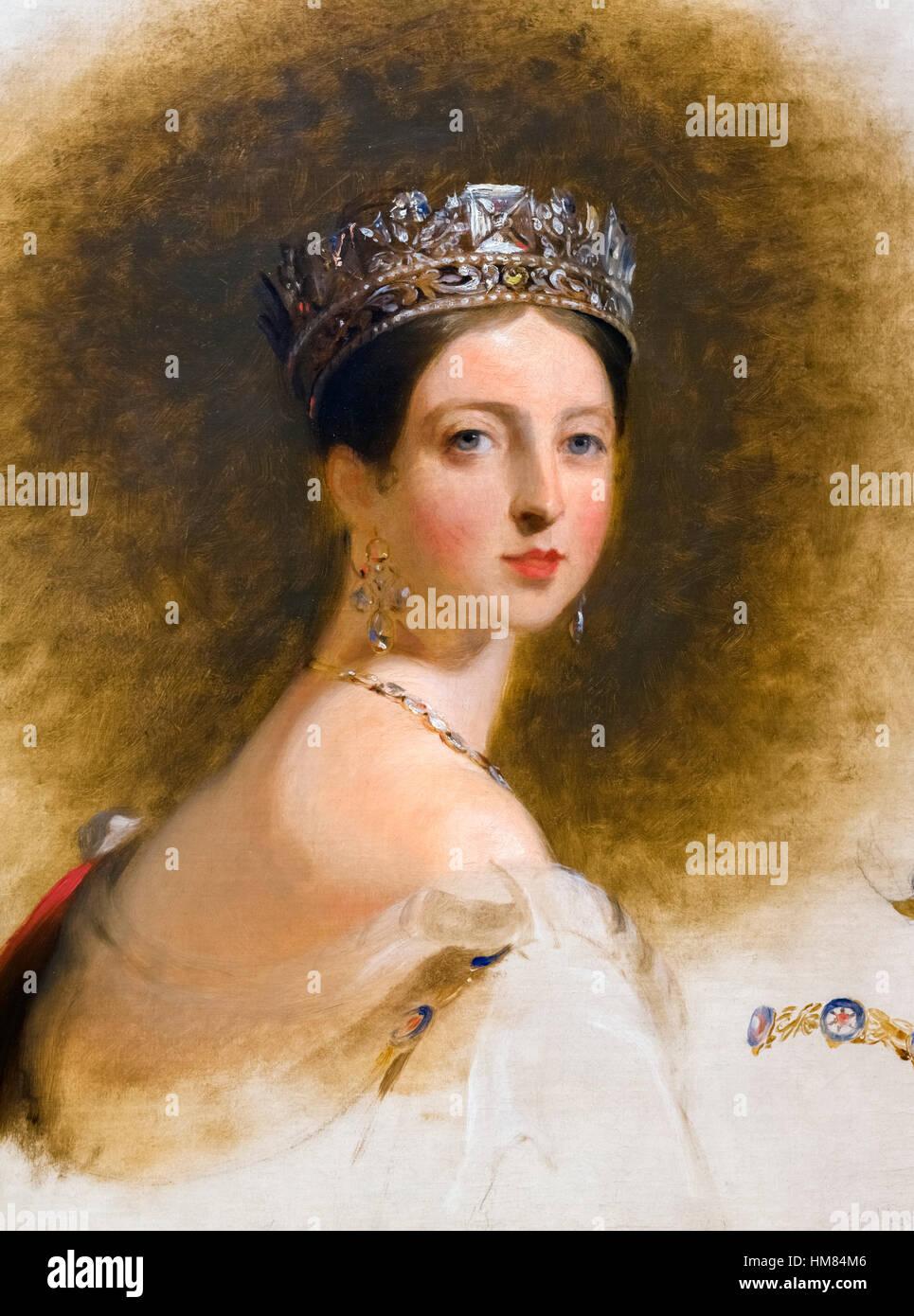 La reine Victoria par Thomas Sully, huile sur toile, 1838. Photo Stock