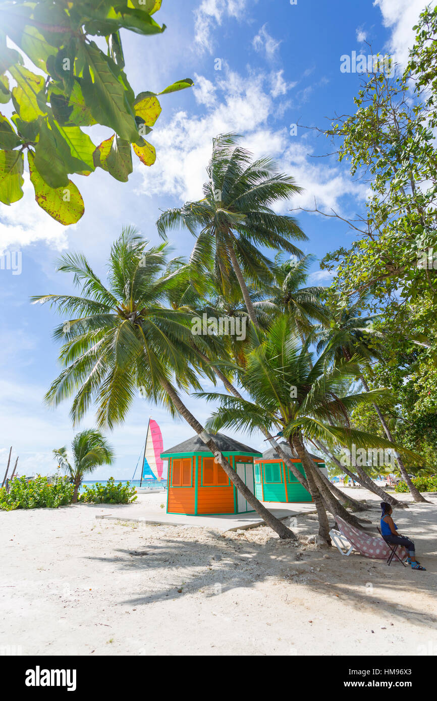 Worthing Beach, Christ Church, Barbade, Antilles, Caraïbes, Amérique Centrale Photo Stock