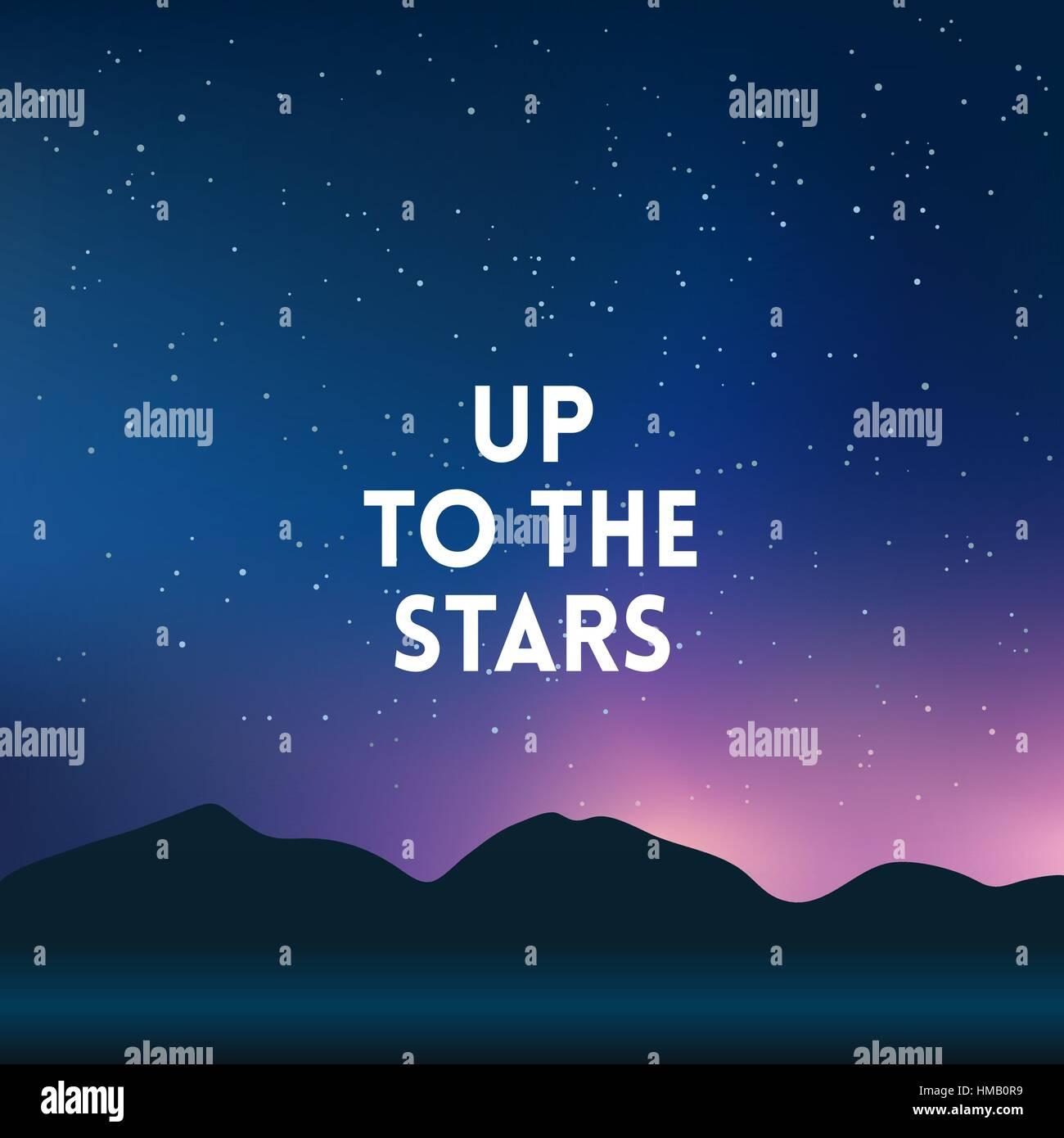 Montagne floue carrés nuit étoile fond ciel   couleurs de nuit