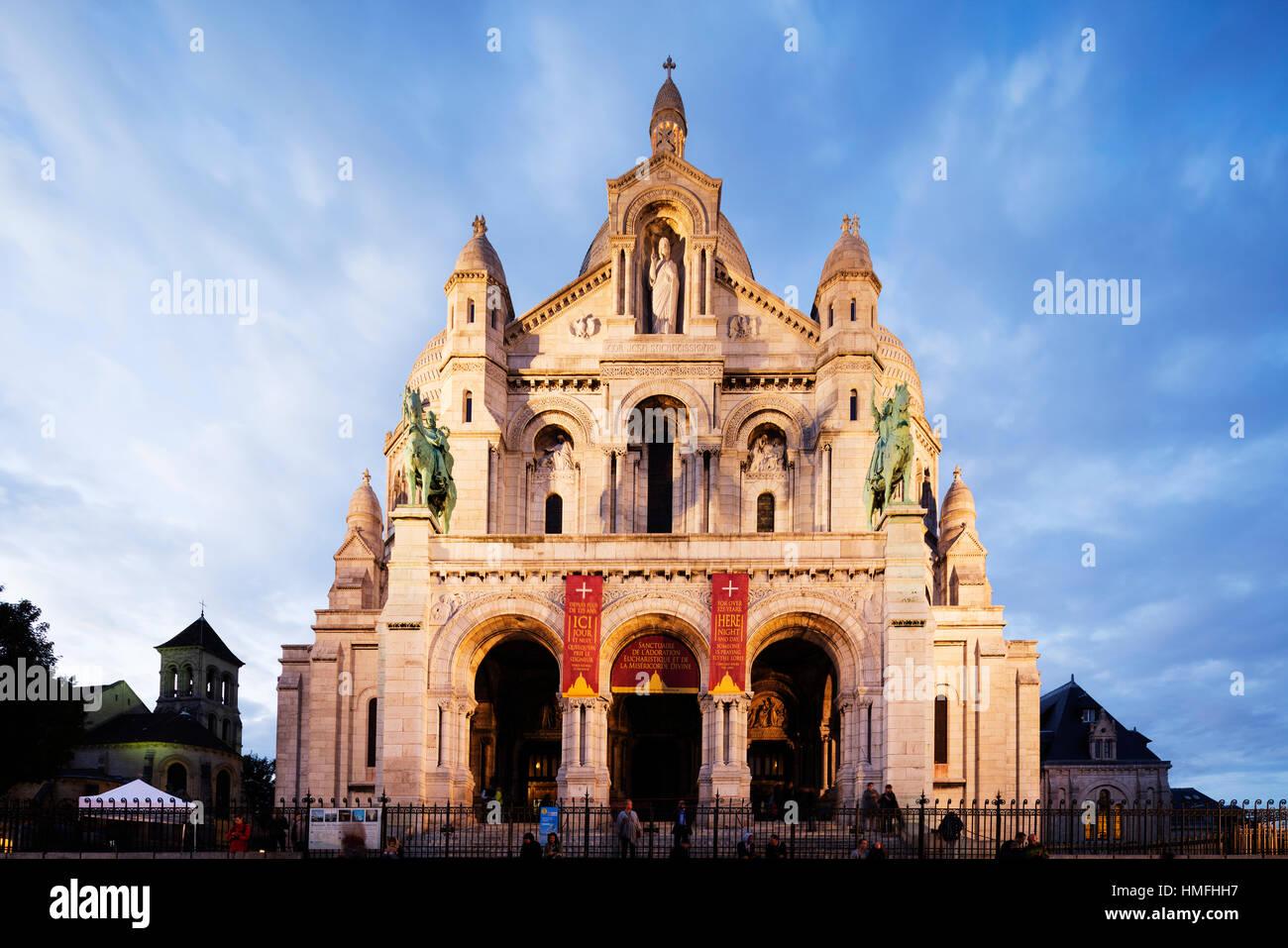 La basilique du Sacré-Cœur, Montmartre, Paris, France Photo Stock
