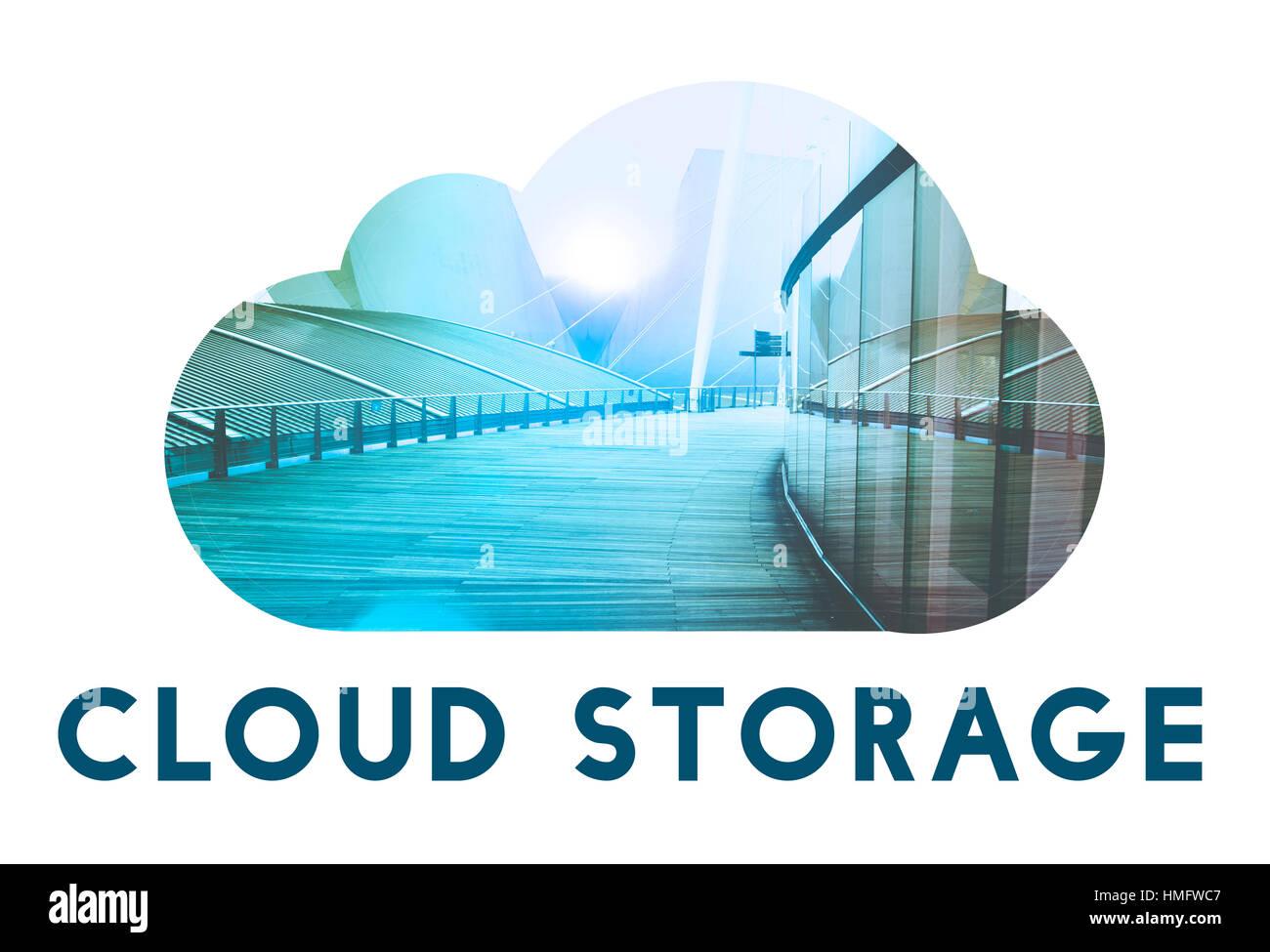 Télécharger Cloud Storage Sauvegarder Photo Stock